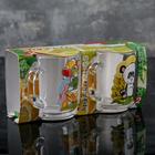 Набор кружек «Веселые зверюшки», 200 мл, 2 шт, в подарочной упаковке, рисунок МИКС - Фото 2