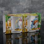 Набор кружек «Веселые зверюшки», 200 мл, 2 шт, в подарочной упаковке, рисунок МИКС - Фото 3