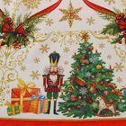 """Скатерть круглая Этель """"Новогодние игрушки"""" d = 160 см, 100 % хлопок - Фото 7"""