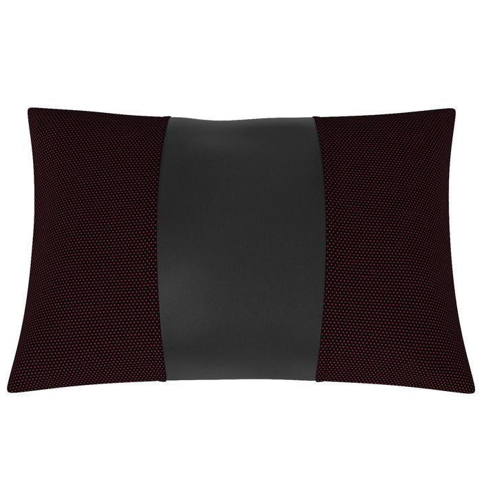 Автомобильная подушка, поясничный подпор, жаккард , экокожа, чёрная, Готика
