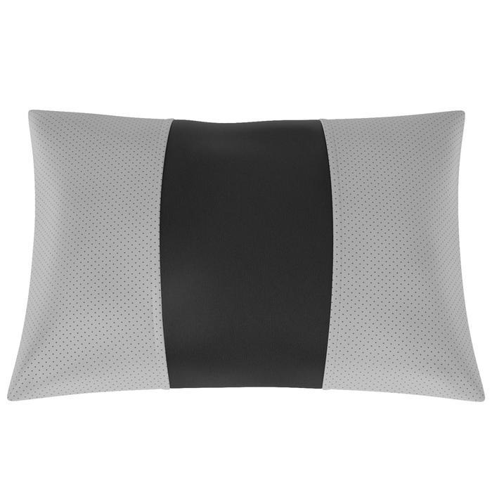 Автомобильная подушка, поясничный подпор, экокожа, чёрно-серая
