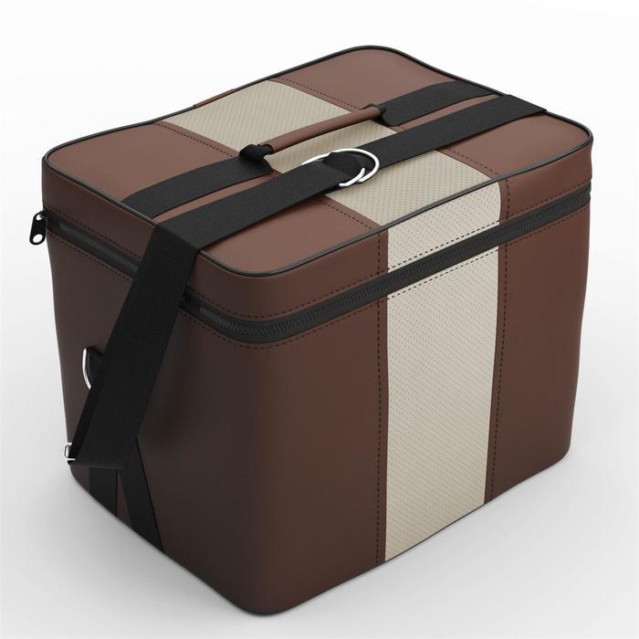 Автомобильная сумка, экокожа, тёмно-серая