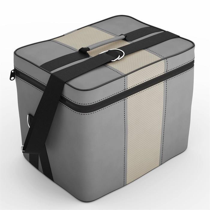 Автомобильная сумка, экокожа, серая