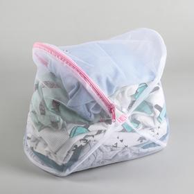 Мешок для стирки, 23×35 см, крупная сетка, цвет белый Ош