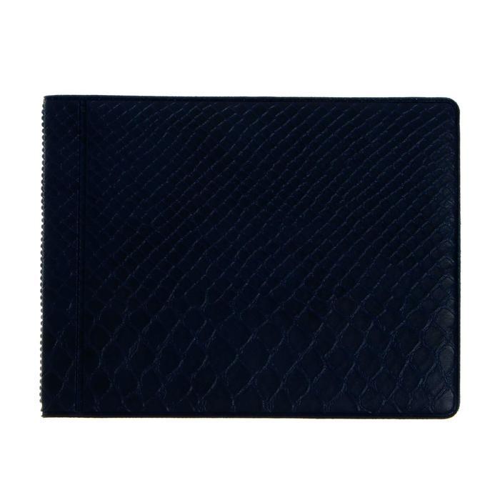 Альбом для монет, 125 х 100 мм Calligrata, на 96 монет, ячейка 26 х 29 мм, обложка ПВХ, синий