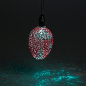 Игрушка световая 'Шишка на елку' (батарейки в комплекте) 6 см, 1 LED, RGB, РОЗОВЫЙ Ош