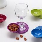 Набор подставок для бокалов с соусником 13х9,5х4 см, 4 шт, цвет МИКС