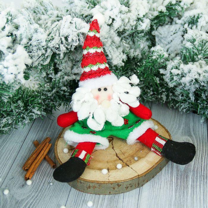 """Мягкая игрушка """"Дед Мороз"""" в шортиках 10*30 см"""