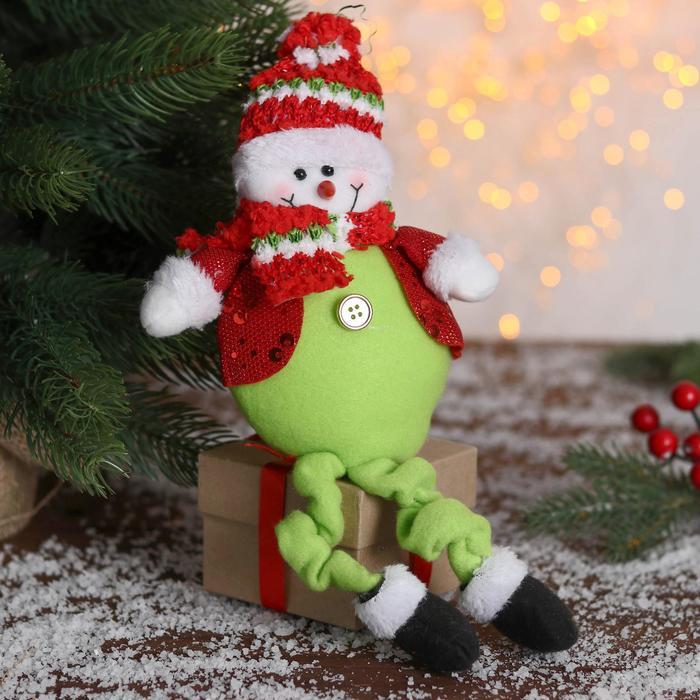 """Мягкая игрушка """"Снеговик"""" в пиджаке 9*30 см"""