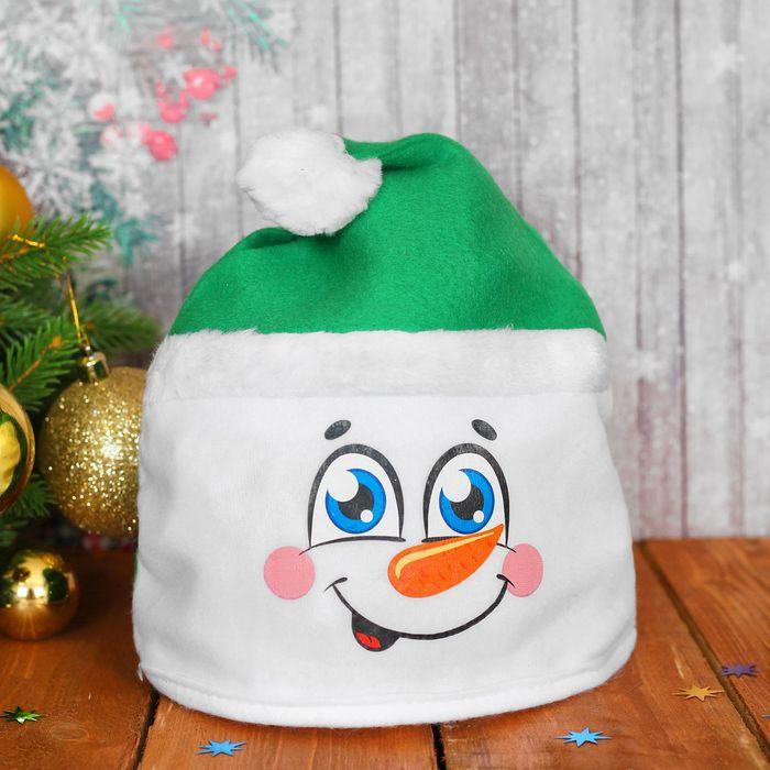 Карнавальная шляпа Снеговик, р-р. 56, цвета МИКС