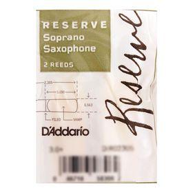 Трости Rico DIR02305 Reserve  для саксофона сопрано, размер 3.0+, 2шт