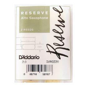 Трости Rico DJR0220 Reserve  для саксофона альт, размер 2.0, 2шт.