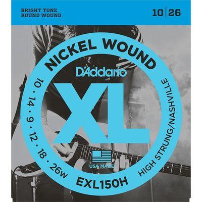 Струны для электрогитары D'Addario EXL150H Nickel Wound High-Strung/Nashville Tuning 10-26