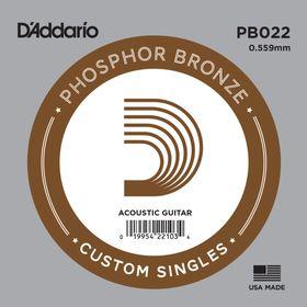 Отдельная струна D'Addario PB022 Phosphor Bronze  для акустической гитары