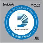 Отдельная струна D'Addario PL0085 Plain Steel  без обмотки, сталь, .0085,
