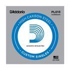 Отдельная струна D'Addario PL013 Plain Steel  без обмотки, сталь, .013,