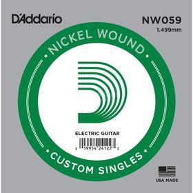 Отдельная струна D'Addario NW059 Nickel Wound  для электрогитары, .059,