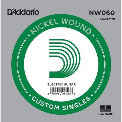 Отдельная струна D'Addario NW060 Nickel Wound  для электрогитары, .060,
