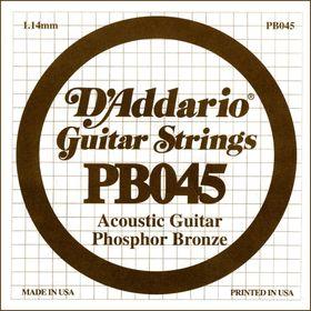 Отдельная струна D'Addario PB045 Phosphor Bronze  для акустической гитары