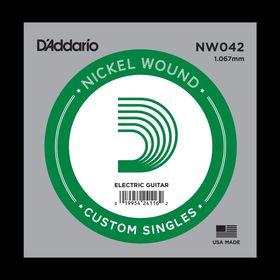 Отдельная струна D'Addario NW042 Nickel Wound  для электрогитары, .042,