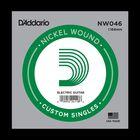 Отдельная струна D'Addario NW046 Nickel Wound  для электрогитары, .046,