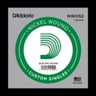 Отдельная струна D'Addario NW052 Nickel Wound  для электрогитары, .052,