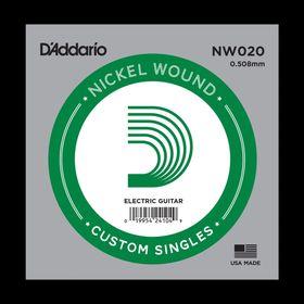 Отдельная струна D'Addario NW020 Nickel Wound  для электрогитары, .020,