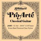 Отдельная 3-я струна D'Addario J4403 Pro-Arte  для классической гитары, нейлон