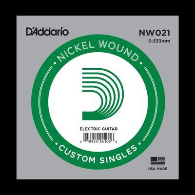 Отдельная струна D'Addario NW021 Nickel Wound  для электрогитары, .021,