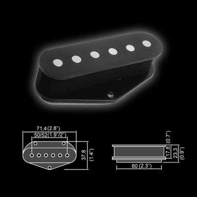 Звукосниматель магнитный Belcat BT-101  сингл, бриджевый, черный - Фото 1