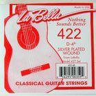 Отдельная струна La Bella 422  №4 из нейлоновой нити в посеребренной оплетке
