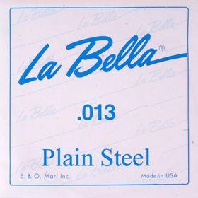 Отдельная стальная струна La Bella PS013 без оплетки, 013
