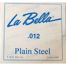 Отдельная стальная струна La Bella PS012 без оплетки, 012
