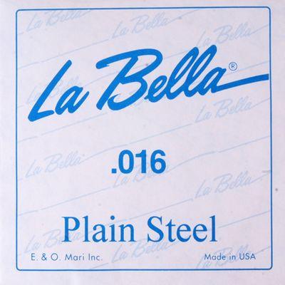 Отдельная стальная струна La Bella PS016  016 - Фото 1