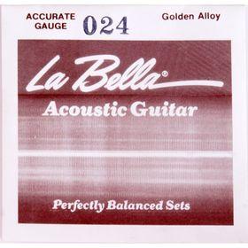 Отдельная струна La Bella GW024  сталь в бронзовой оплетке, 024