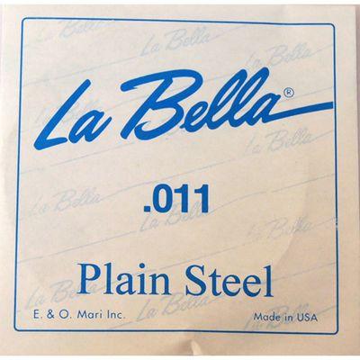 Отдельная стальная струна La Bella PS011 без оплетки, 011 - Фото 1