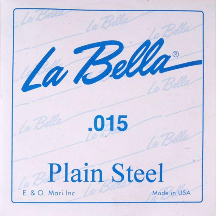 Отдельная стальная струна La Bella PS015 без оплетки, 015