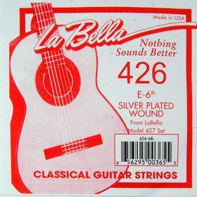 Отдельная струна La Bella 426  №6, посеребренная