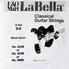 Отдельная струна La Bella 823B  гитарная №3 черный нейлон La Bella