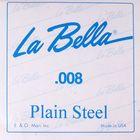 Отдельная стальная струна La Bella PS008 без оплетки, 008