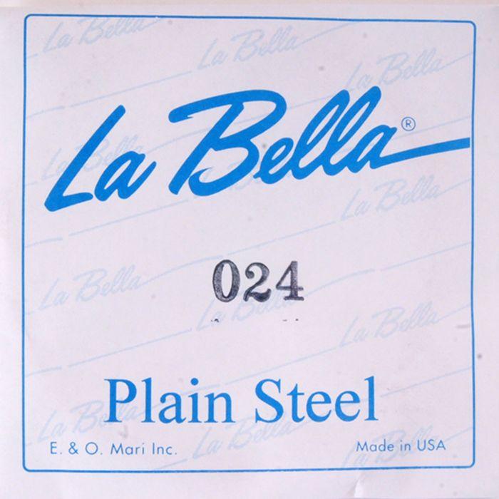 Отдельная стальная струна La Bella PS024 без оплетки, 024