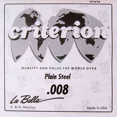 Отдельная 1-я струна La Bella CPS008  сталь, 008 - Фото 1