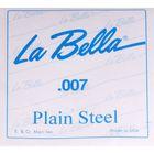 Отдельная стальная струна La Bella PS007 без оплетки диамером 0,007.