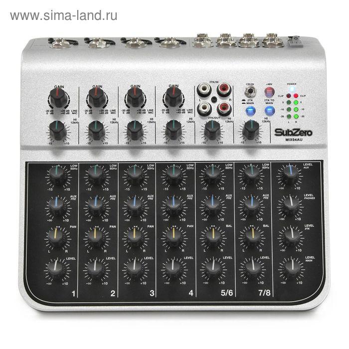 Микшерный пульт Soundking MIX04AU (мини), 8 каналов, USB