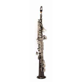 Саксофон-сопрано John Packer JP043BS  Bb, прямой, черный/серебро