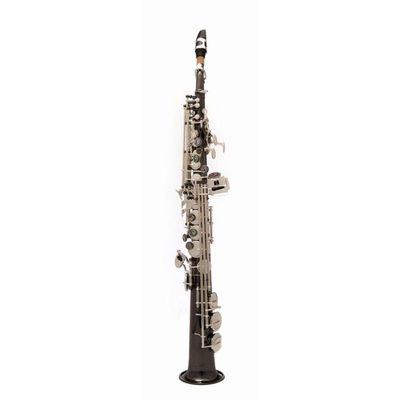 Саксофон-сопрано John Packer JP043BS  Bb, прямой, черный/серебро - Фото 1