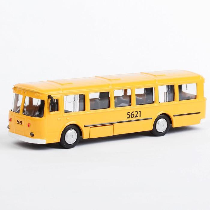 Автобус металлический 15 см, инерционный, открывающиеся двери