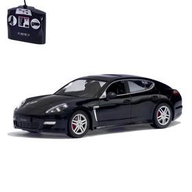 Машина радиоуправляемая Porsche Panamera, масштаб 1:14, работает от аккумулятора, свет, цвет чёрный, mz 2022