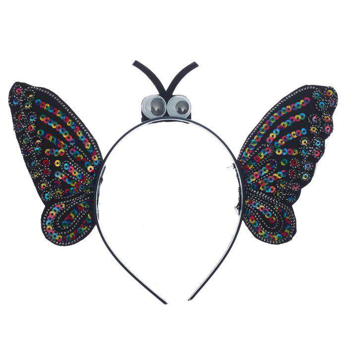 Карнавальный ободок Бабочка, перелив