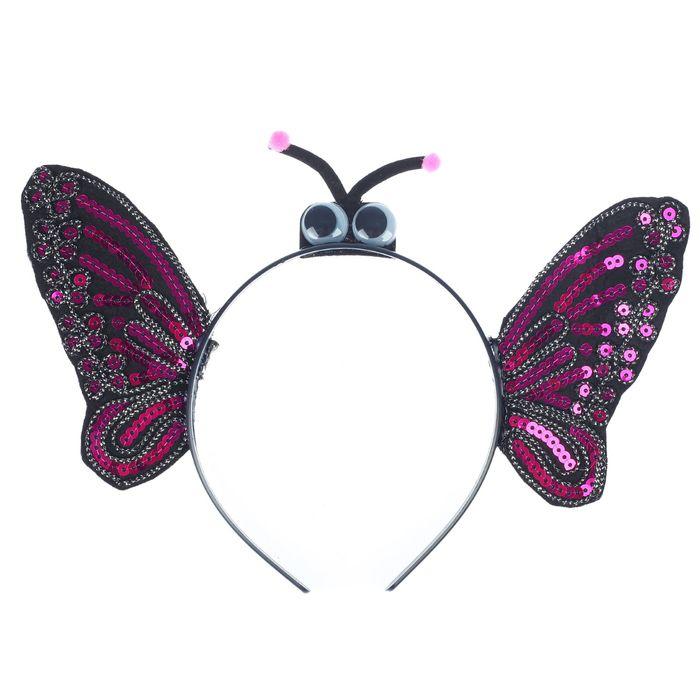 Карнавальный ободок Бабочка, с глазками